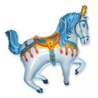 Luftballon Zirkuspferd Blau Folie 106cm