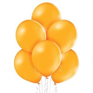 100 Luftballons Orange Pastell 35cm