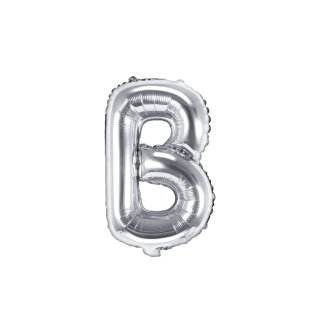 Luftballon Buchstabe B Silber Folie ca 35cm