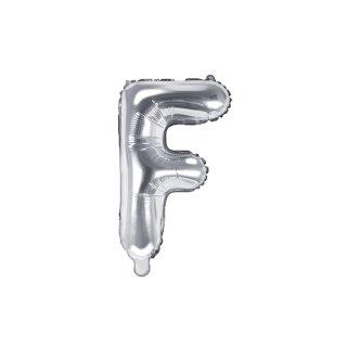 Luftballon Buchstabe F Silber Folie ca 35cm