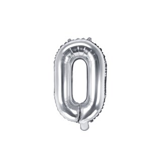 Luftballon Buchstabe O Silber Folie ca 35cm