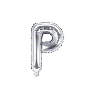 Luftballon Buchstabe P Silber Folie ca 35cm