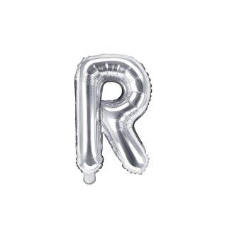 Luftballon Buchstabe R Silber Folie ca 35cm