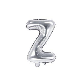 Luftballon Buchstabe Z Silber Folie ca 35cm