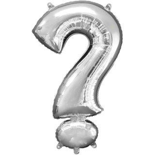 Luftballon Symbol ? Silber Folie ca 35cm