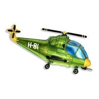 Luftballon Hubschrauber Grün Folie 99cm