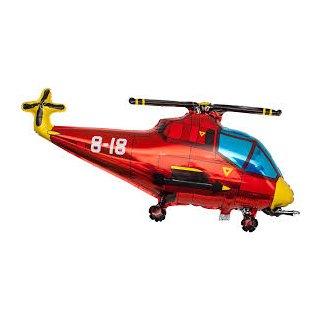 Luftballon Hubschrauber Rot Folie 99cm