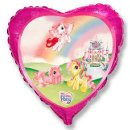 Folienballon MY LITTLE PONY mit Schloß  pink Herz ø45 cm...