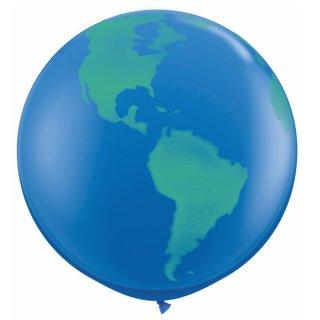 2 Riesenballons Weltkugel ø90 cm ungefüllt