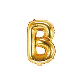 Luftballon Buchstabe B Gold Folie ca 35cm