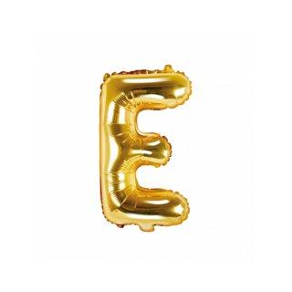 Luftballon Buchstabe E Gold Folie ca 35cm