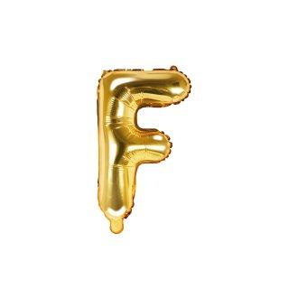 Luftballon Buchstabe F Gold Folie ca 35cm