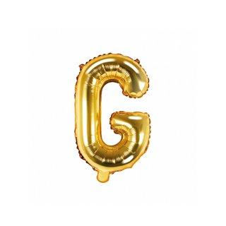 Luftballon Buchstabe G Gold Folie ca 35cm