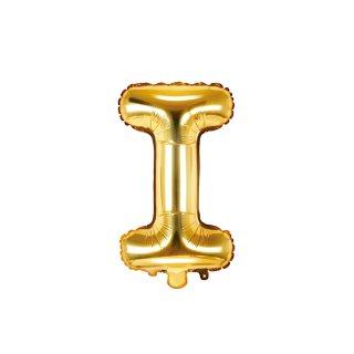 Luftballon Buchstabe i Gold Folie ca 35cm