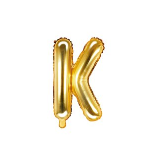 Luftballon Buchstabe K Gold Folie ca 35cm