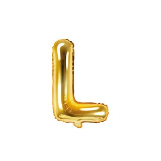 Luftballon Buchstabe L Gold Folie ca 35cm
