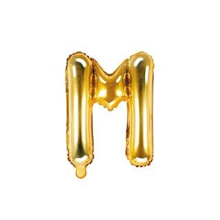Luftballon Buchstabe M Gold Folie ca 35cm
