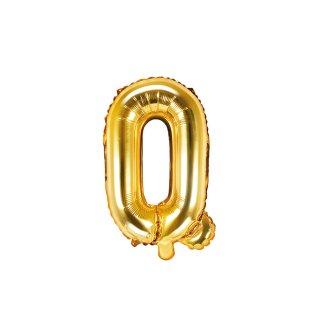 Luftballon Buchstabe Q Gold Folie ca 35cm