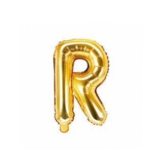 Luftballon Buchstabe R Gold Folie ca 35cm