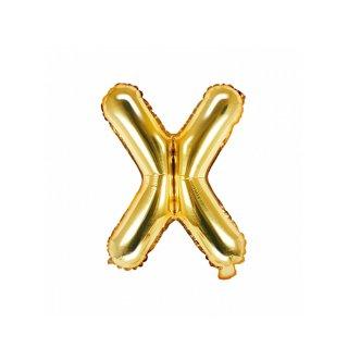 Luftballon Buchstabe X Gold Folie ca 35cm