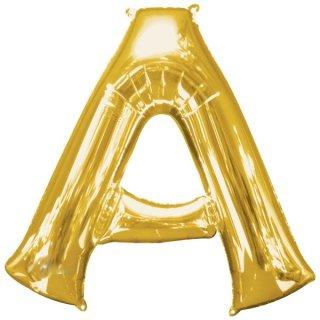 Luftballon Buchstabe A Gold Folie ca 86cm