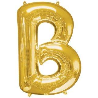 Luftballon Buchstabe B Gold Folie ca 86cm