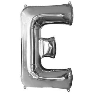 Luftballon Buchstabe E Silber Folie ca 86cm