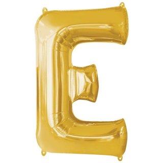 Luftballon Buchstabe E Gold Folie ca 86cm
