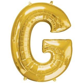 Luftballon Buchstabe G Gold Folie ca 86cm