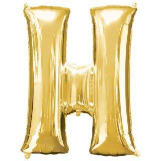 Luftballon Buchstabe H Gold Folie ca 86cm