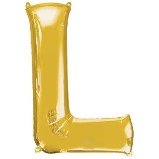 Luftballon Buchstabe L Gold Folie ca 86cm