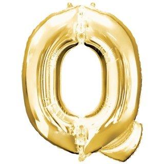 Luftballon Buchstabe Q Gold Folie ca 86cm