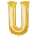 Luftballon Buchstabe U Gold Folie ca 86cm