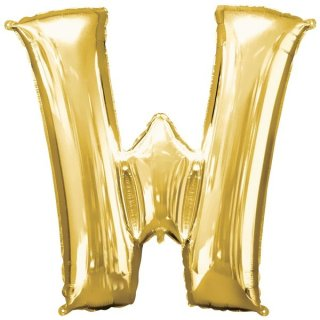 Luftballon Buchstabe W Gold Folie ca 86cm