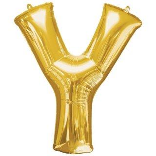 Luftballon Buchstabe Y Gold Folie ca 86cm