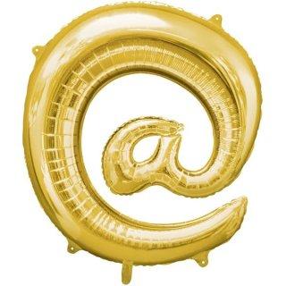 Luftballon Symbol @ Gold Folie ca 86cm