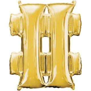 Luftballon Symbol # Gold Folie ca 86cm