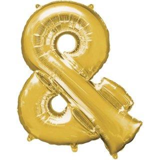 Luftballon Symbol & Gold Folie ca 86cm