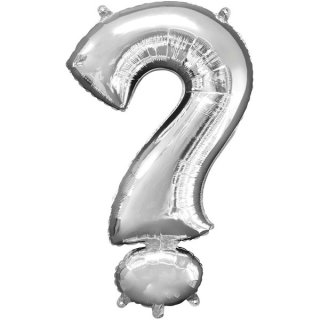 Luftballon Symbol ? Silber Folie ca 86cm