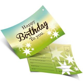50 Ballonflugkarten HAPPY BIRTHDAY TO YOU