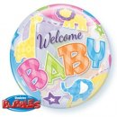 Luftballon Welcome Baby Bubble Folie ø55cm