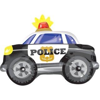 Luftballon Polizeiauto Folie 60cm