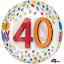 Luftballon Zahl 40 Happy Birthday Klar Bunt Orbz...