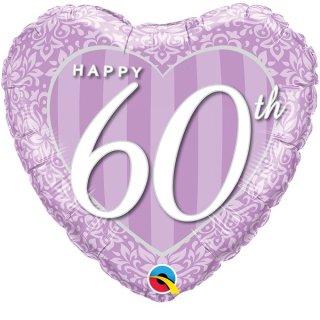 Luftballon Zahl 60 Violett Lavendel Folie ø45cm