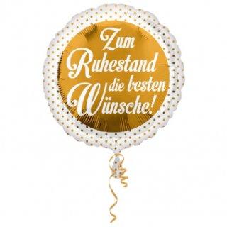 Luftballon Zum Ruhestand die beste Wünsche Folie ø45cm