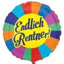Luftballon Endlich Rentner Folie ø45cm