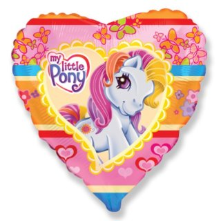 Luftballon My little Pony Herz Folie ø45cm