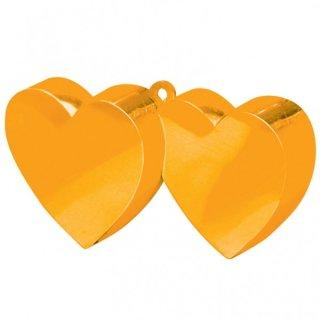 Ballongewicht Herzen ORANGE 170 g