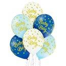 6 Luftballons Baby Boy Blau ø30cm