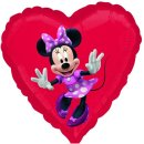 Folienballon MINNIE MOUSE Herz ø45 cm Disney (unverpackt)...